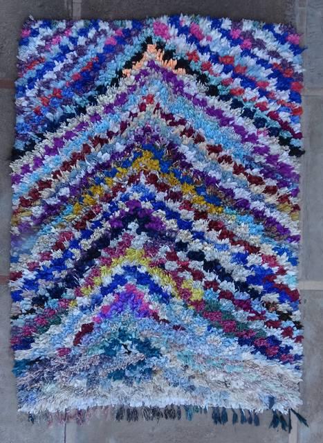 BOUCHEROUITE Boucherouite Medium moroccan rugs T46051