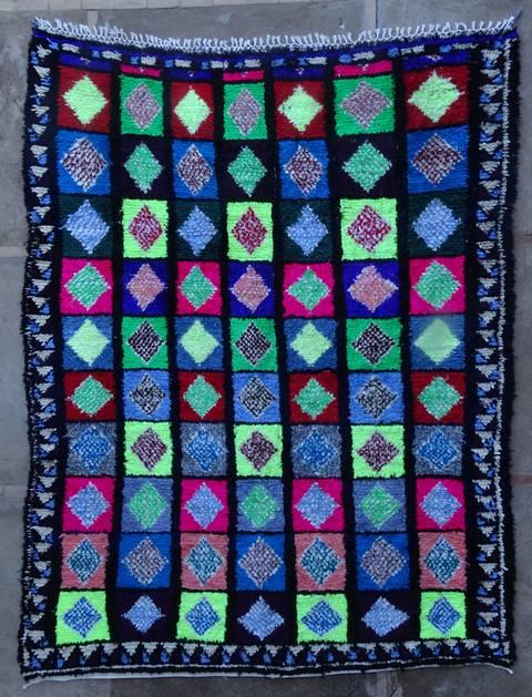 Boucherouite Large moroccan rugs L46054