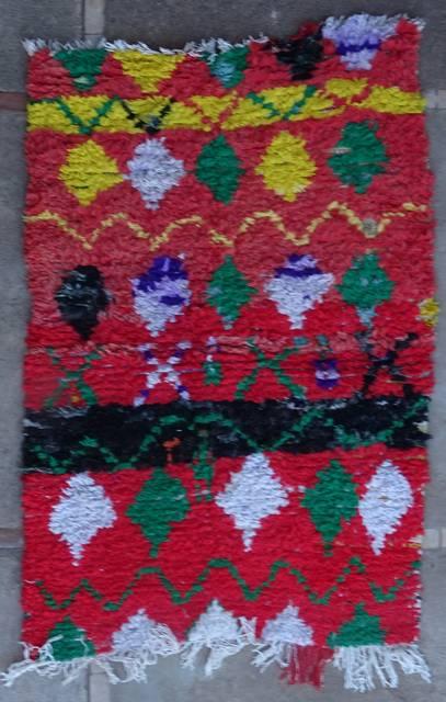 Boucherouite Small moroccan rugs TT46057