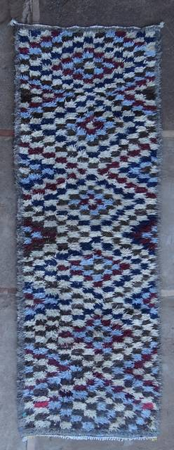 BOUCHEROUITE Corridor Boucherouite moroccan rugs C46064