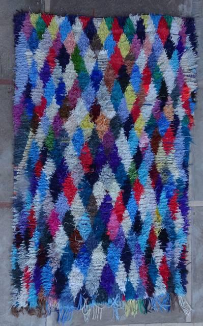 Boucherouite Large moroccan rugs L46067