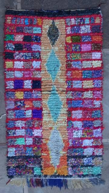 BOUCHEROUITE Boucherouite Mittlere Berber Teppich T46072