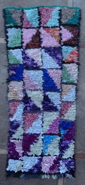 Boucherouite Small moroccan rugs TT46074
