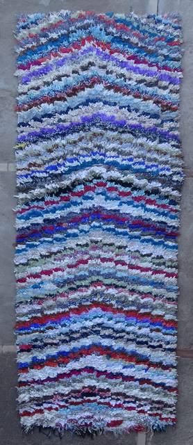 BOUCHEROUITE-KILIMS Runner Boucherouite moroccan rugs C46075