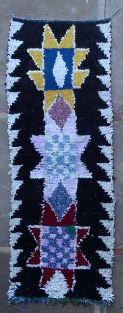 Boucherouite Corridor rugs moroccan rugs C46076