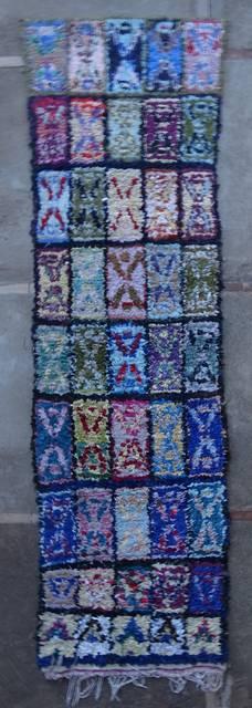 Boucherouite Corridor rugs moroccan rugs C46084