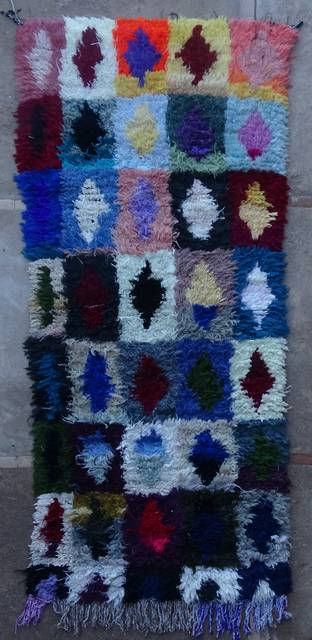 BOUCHEROUITE-KILIMS Boucherouite Medium moroccan rugs C46085