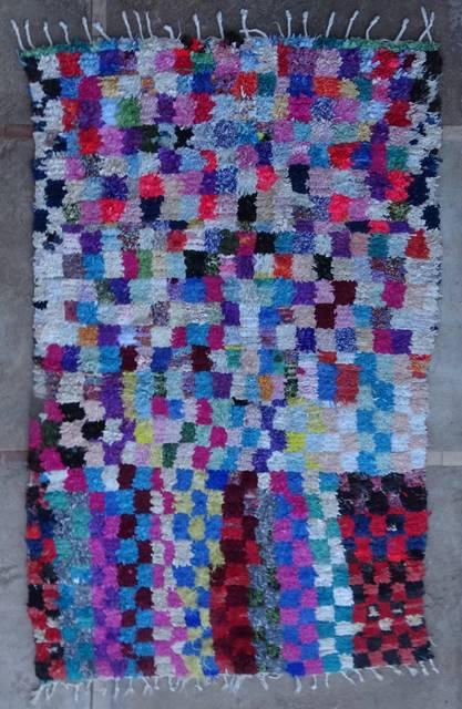 BOUCHEROUITE Boucherouite Medium moroccan rugs T46090
