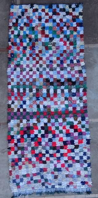 BOUCHEROUITE-KILIMS Boucherouite Medium moroccan rugs T46091