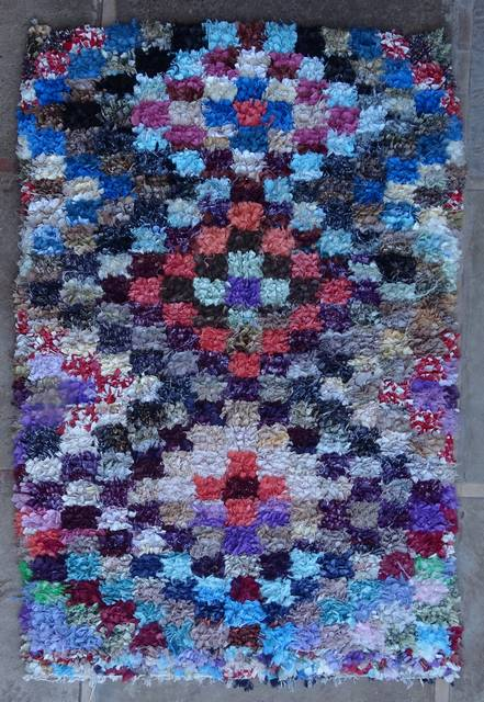 BOUCHEROUITE Boucherouite Mittlere Berber Teppich T46092
