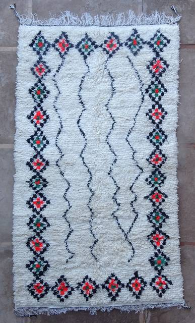 WOOL Rugs - BENI OURAIN Azilal and Ourika moroccan rugs AS46093