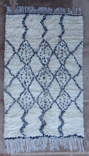 WOOL Rugs - BENI OURAIN Azilal and Ourika moroccan rugs AS46095