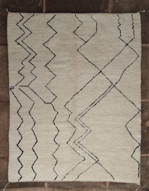 Archive-Sold Beni Ouarain moroccan rugs BO46096/MA Custom made ORY