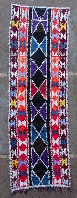 Boucherouite Corridor rugs moroccan rugs C46097