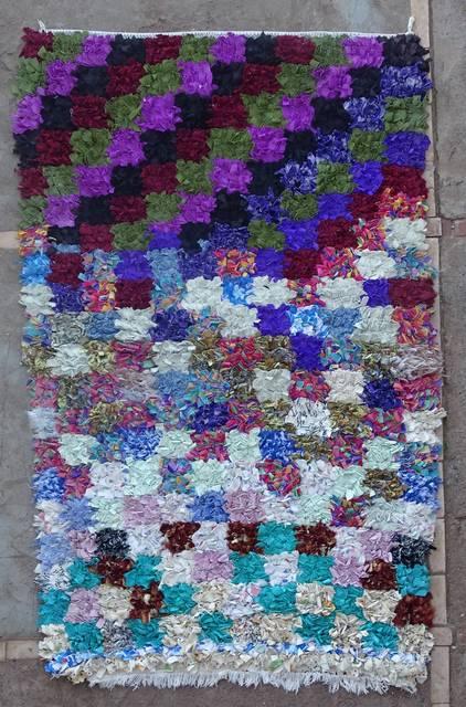 BOUCHEROUITE Boucherouite Medium moroccan rugs T46098