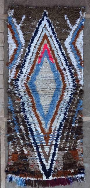 BOUCHEROUITE Boucherouite Medium moroccan rugs T46105