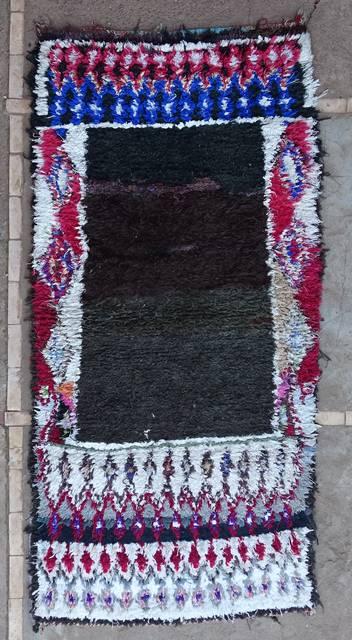 BOUCHEROUITE Boucherouite Medium moroccan rugs T46106