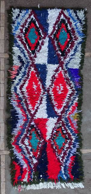 BOUCHEROUITE Boucherouite Mittlere Berber Teppich T46107