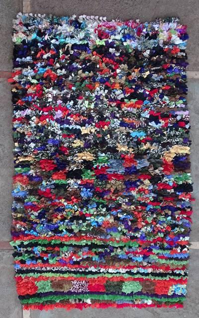 BOUCHEROUITE Boucherouite Medium moroccan rugs T46108