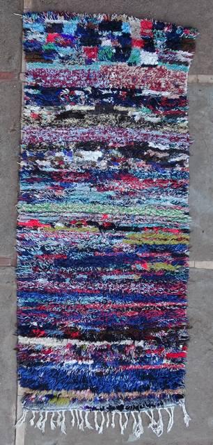 BOUCHEROUITE Corridor Boucherouite moroccan rugs C46111