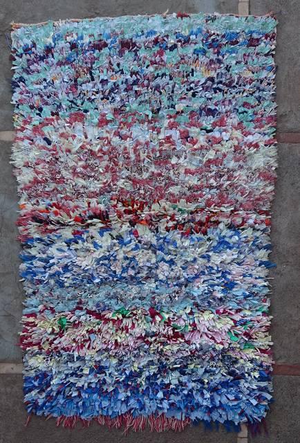 Boucherouite Medium moroccan rugs T46112