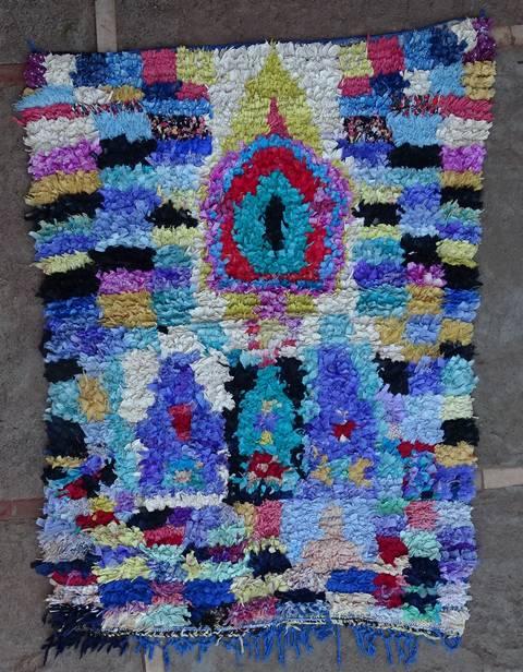 Boucherouite Medium moroccan rugs T46113