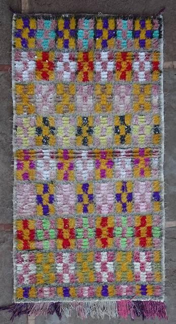 Boucherouite Medium moroccan rugs T46115