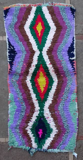 BOUCHEROUITE Boucherouite Small moroccan rugs TT46116