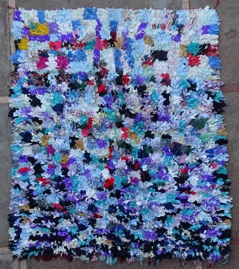 BOUCHEROUITE Boucherouite Medium moroccan rugs T46118