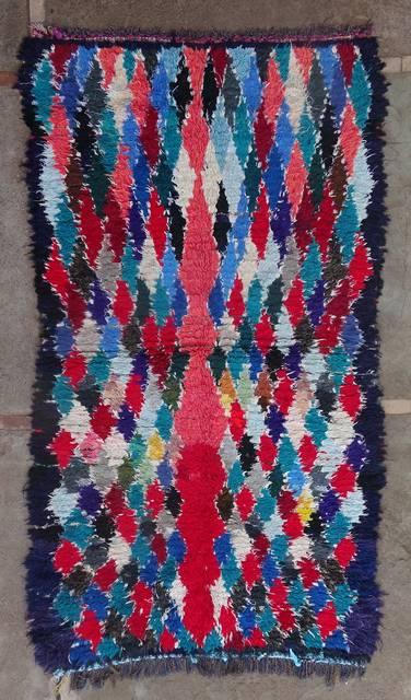 BOUCHEROUITE Boucherouite Medium moroccan rugs T46145
