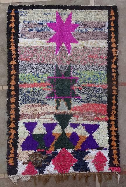 BOUCHEROUITE Boucherouite Medium moroccan rugs T46146