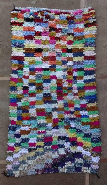 BOUCHEROUITE Boucherouite Medium moroccan rugs T46148