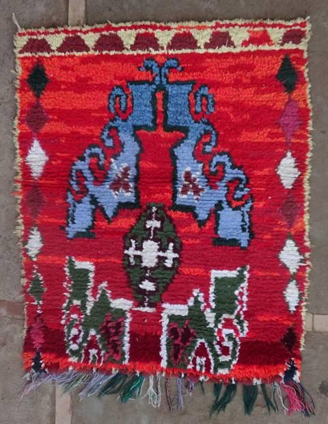 Archive-Sold Boucherouite moroccan rugs TT46151