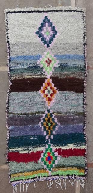 BOUCHEROUITE Boucherouite Medium moroccan rugs T46154