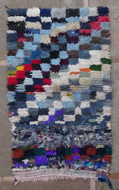 BOUCHEROUITE Boucherouite Small moroccan rugs TT46155
