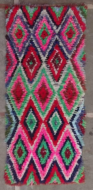 Archive-Sold Boucherouite moroccan rugs TT46156