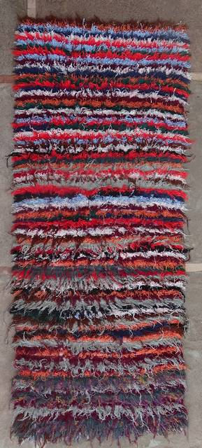 BOUCHEROUITE Boucherouite Mittlere Berber Teppich T46157