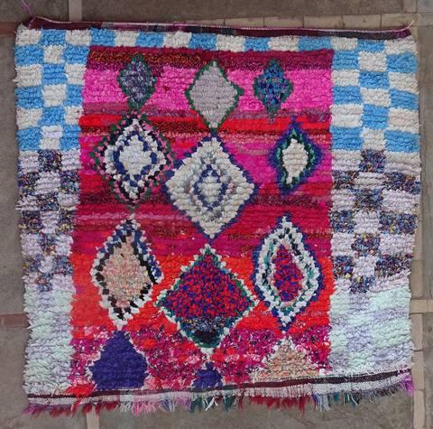 Boucherouite Medium moroccan rugs T46161