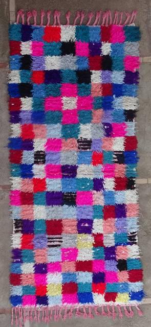 BOUCHEROUITE Boucherouite Medium moroccan rugs T46162