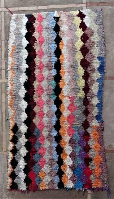 Boucherouite Large moroccan rugs L46167