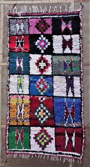 BOUCHEROUITE Boucherouite Large moroccan rugs L46169