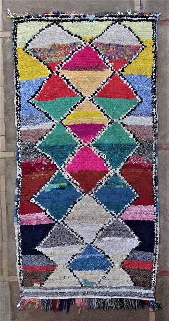 BOUCHEROUITE Boucherouite Mittlere Berber Teppich T46170