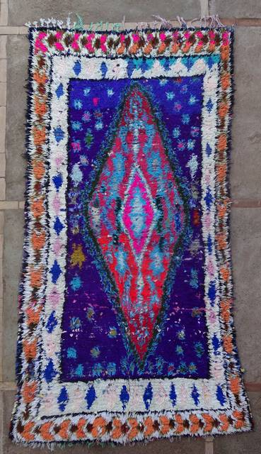 BOUCHEROUITE Boucherouite Medium moroccan rugs T46171