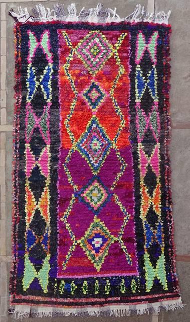 BOUCHEROUITE Boucherouite Large moroccan rugs L46175