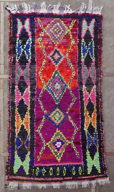 Boucherouite Large moroccan rugs L46175