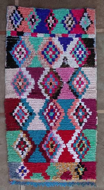 BOUCHEROUITE Boucherouite Medium moroccan rugs T46176