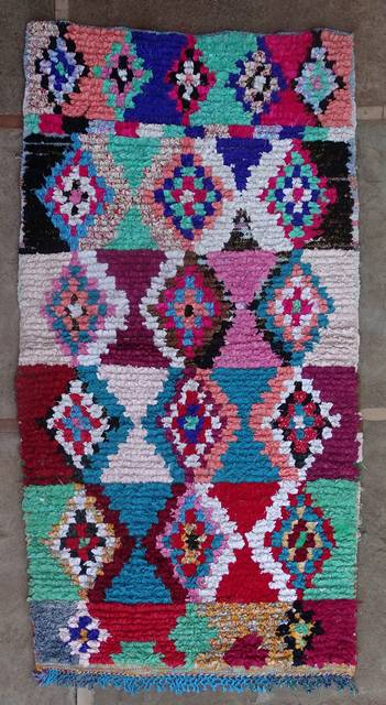 BOUCHEROUITE-KILIMS Boucherouite Medium moroccan rugs T46176