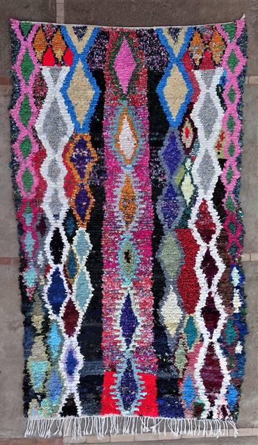 Boucherouite Medium moroccan rugs T46178