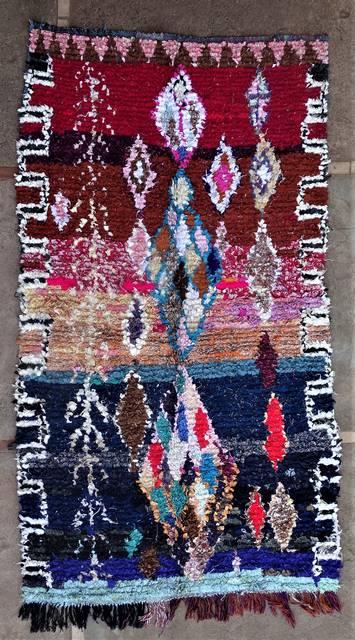 BOUCHEROUITE Boucherouite Medium moroccan rugs T46179