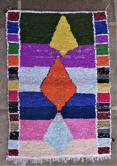 Boucherouite Medium moroccan rugs T46180